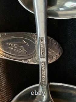 11 Gorham Plain Engraved Pattern Sterling Flatware Set Of 11 All 1 Bid