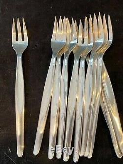 12 Contour By Towle Sterling Silver Seafood Forks All For 1 Bid