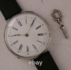 150 Years Old All ORIGINAL Cylindre 1860 French Silver Wrist Watch Mint Serviced