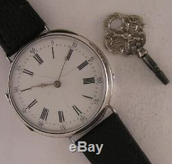 150 Years Old Solid SILVER Case All Original Serviced French 1870 Wrist Watch A+