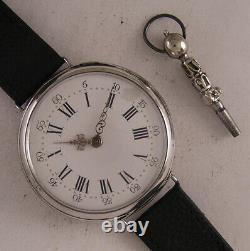 160 Years Old All ORIGINAL Cylindre 1860 French Silver Wrist Watch A+ Serviced