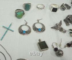 172.9g Sterling Silver 925 All Resell Kjl Native American Turquoise Not Scrap