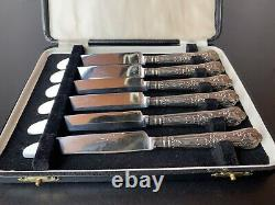 18 x Bundle of Sterling Silver Handled Cutlery Knife All Hallmarked 1920,42,73