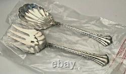 18th Century Sterling Silver by Reed & Barton 2 piece all Silver Salad Set 9.25