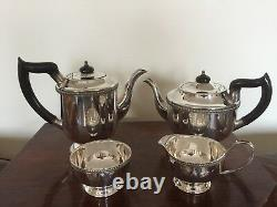4 Piece Silver Plated Tea/coffee Service All On Raised Feet (sptcs 199) Viners
