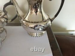 4 Piece Silver Plated Tea/coffee Service All On Raised Feet (sptcs 70f) W & H