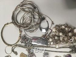 453g (1lb Pound) Of. 925 Sterling Silver Jewelry Resale And Scrap All Marked