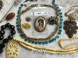 50 pc ALL WEARABLE Victorian Lot Gold Filled Sterling Silver Semiprecious