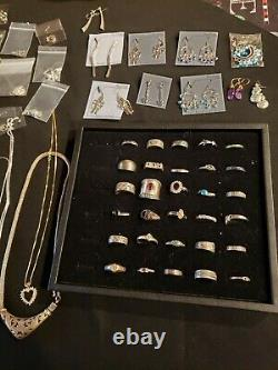 530 Grams Wholesale Lot Sterling Silver 925 Jewelry All Wearable 77 Pieces