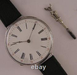 AMAZING ALL ORIGINAL SILVER CASE Cylindre 150 Years Old French Wrist Watch A+