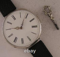 AMAZING ALL ORIGINAL SILVER CASE Cylindre 150 Years Old French Wrist Watch MINT