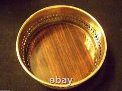 ANTIQUE ENGLISH SHEFFIELD STYLE SILVER WINE COASTER -VEW ALL OUR FineThings4sale
