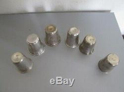 ANTIQUE RUSSIAN SILVER 84 COLLECTION OF 6 VODKA CUPS, all marked