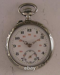 All Original 120 Years Old Cylindre 1900 French Pocket Watch Perfect Serviced