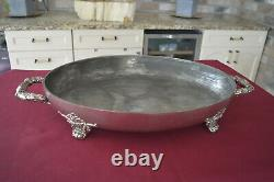 All Original Meat Dome Set Three Pieces with Footed Hot Water Reservoir