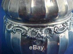 All Sterling Silver Daisy Chain Dresser Jar Powder Box by George Shiebler