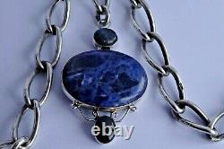 All original antique solid silver double pocket watch albert chain & superb fob