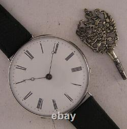Amazing All Original SILVER Cylindre 160 Years Old French Wrist 1 MINT Serviced