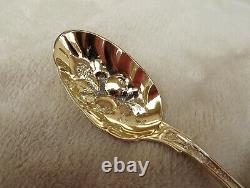 Angelo by Wood & Hughes, 8 5/8 Sterling serving spoon all gold vermeil