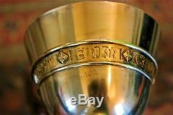 Antique All Sterling Gothic British Anglican Gilded Silver Chalice