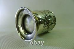 Antique Austria-Hungary solid all silver beautiful art nouveau small cup