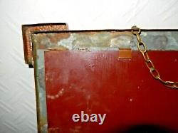 Antique Copper And Brass Arts And Crafts Wall Mirror All Original
