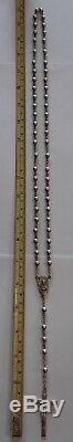 Antique Creed All Sterling Silver Rosary 32 Grams with Virgin Mary Metal Case