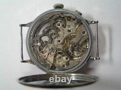 Antique Eberhard Single Button Wire Lug Chronograph. All Original