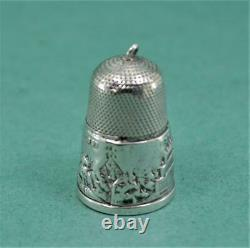 Antique Exhibition Of All Nations Crystal Palace Souvenir Silver Thimble 1851