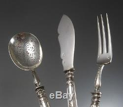Antique French All Sterling Silver Cocktail Serving Set, Puiforcat, 3 pcs