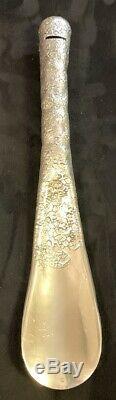 Antique Gorham Sterling Silver Huge Repousse All Over Design Shoe Horn