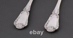 Antique Puiforcat 19 ThC French all sterling silver & vermeil Salad serving Set