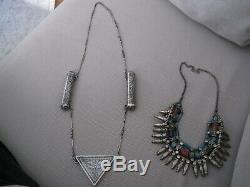 Antique Silver Niello Russian Caucasus Islamic Necklace Great Piece All Original