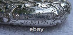 Antique Victorian GORHAM All Sterling GLOVE STRETCHER-Chased Flowers-Dated 1893
