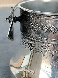 Antique dated 1885 Whiting Company Art Nouveau All Sterling Silver Basket
