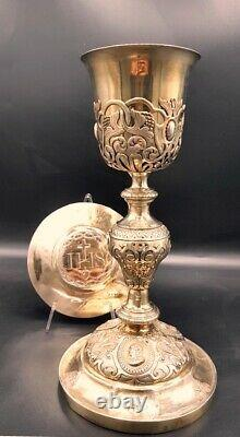 Antique french chalice all in sterling silver circa 1850