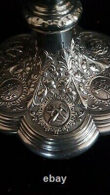 Antique french ciborium all in solid silver circa 1870