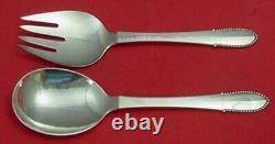 Beaded by Georg Jensen Sterling Silver Salad Serving Set 2-Piece All-Sterling 8