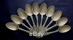 Buttercup By Gorham Sterling Set Of 10 All Silver Soup Spoons Pat 1900