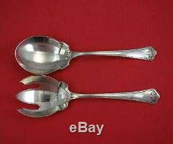 Carmel by Wallace Sterling Silver Salad Serving Set 2pc All Sterling FH 8 1/2
