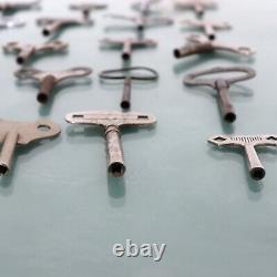 Clock Keys Vintage Antique ALL Sizes 30 Pieces Parts Tools Replacement 1890-1960