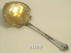 Coignet Fabulous French All Sterling Silver Gold Strawberry Spoon Ferrure