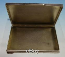 Czechoslovakia. 900 Silver Card Case Engine Turned Design All Sides (#2795)