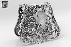 Debain French All Sterling Silver Asparagus, Sandwiches Grip, Art Nouveau