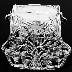Debain French All Sterling Silver Asparagus Sandwiches Grip, Art Nouveau