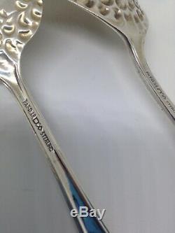 Dominick & Haff ROCOCO Sterling Silver ALL SILVER 2 PIECE SALAD SET No Monos