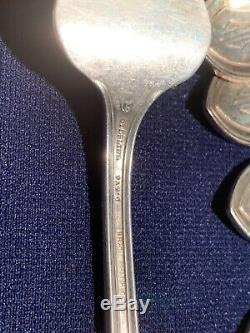 Essex by Durgin Sterling Silver SET OF 8 FISH FORKS ALL SILVER MONOGRAMMED SAME