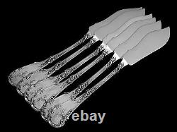 Foquet Lapar Fabulous French All Sterling Silver Fish Flatware Set 12 pc Rococo