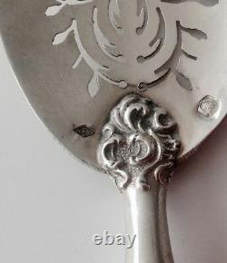French Antique all Solid Silver Dessert Hors d'Oeuvre Serving Set 4/PS Rococo