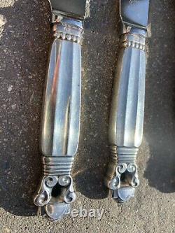 Georg Jensen Denmark All Sterling Silver Pastry Knives